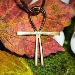 Kreuz des Atlantis aus Messing 4,5cm Schutz Talisman
