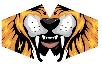 Modische Schutzmaske für Kinder  - Tiger