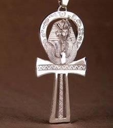Nilschlüssel Ankh mit Pharao Talisman aus Silber 925
