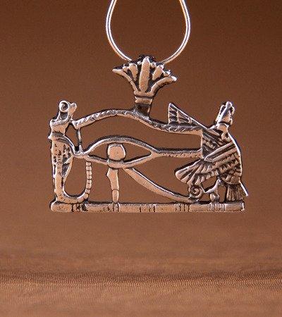 Horusauge 2,2cm Talisman aus Silber 925
