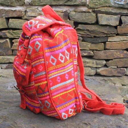Kleine Nepal Rucksack Rot