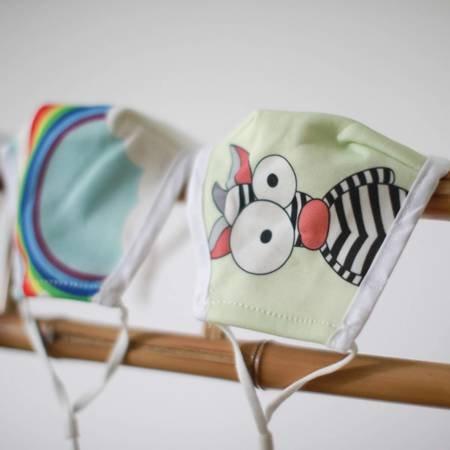 Modische Schutzmaske für Kinder -Verrücktes Zebra