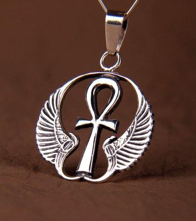 Nilschlüssel mit Flügeln Talisman aus Silber 925