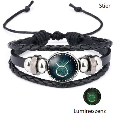 Stier - Lumineszenz Armband mit Sternzeichen