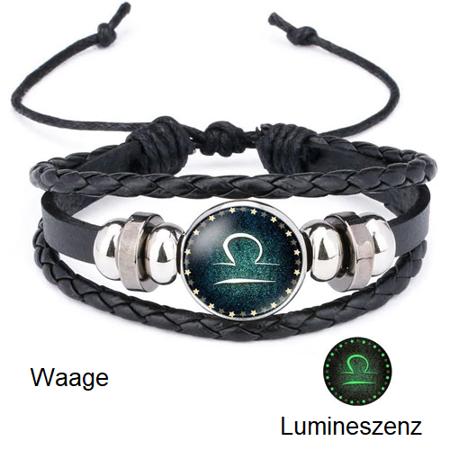Waage - Lumineszenz Armband mit Sternzeichen