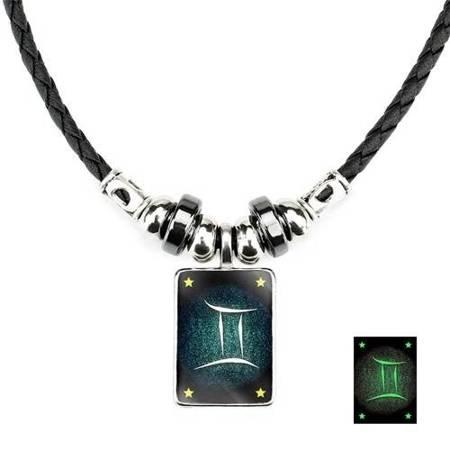 Zwillinge - Lumineszenz Halskette mit Sternzeichen
